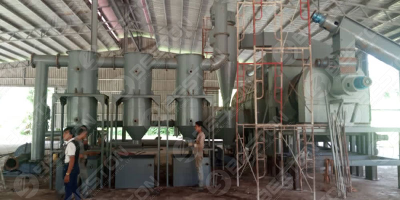 BST-30 Palm Kernel Shell Charcoal Machine in Malaysia