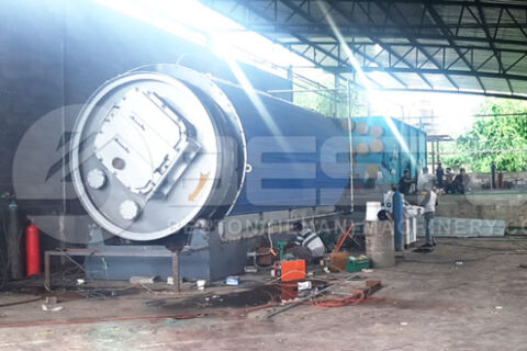 Beston Small Pyrolysis Plant Assembled in Zimbabwe