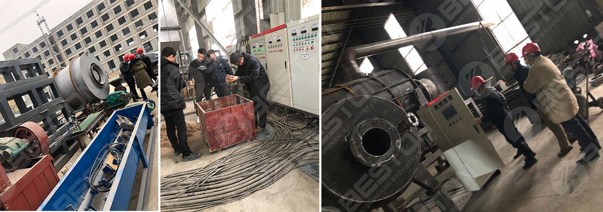 Charcoal Making Machine Shipped to Malasyia