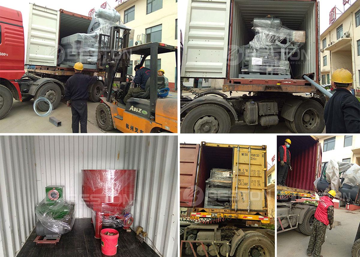 Shipment of Apple Tray Making Machine