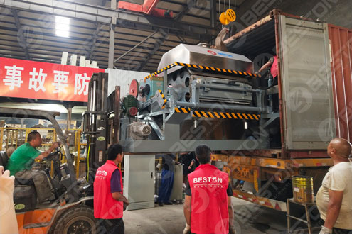 Beston Egg Tray Making Machine Sold to Mozambique