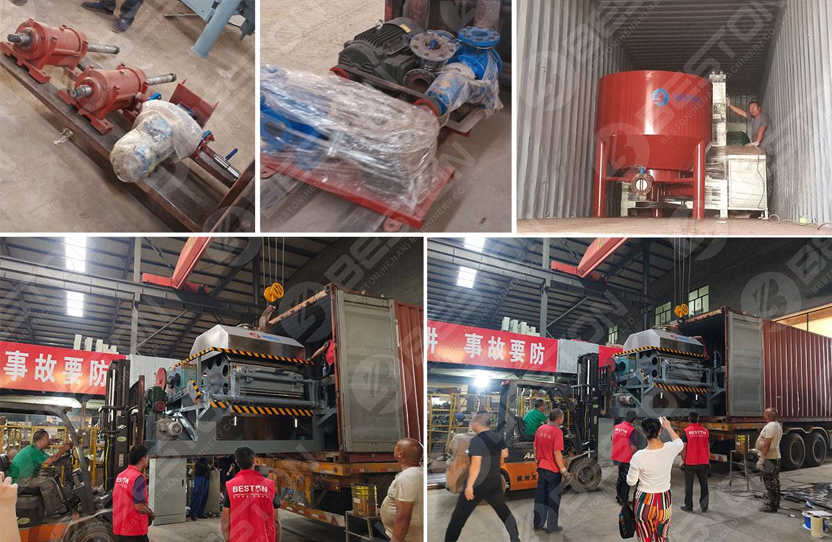 Egg Tray Making Machine Shipped to Mozambique
