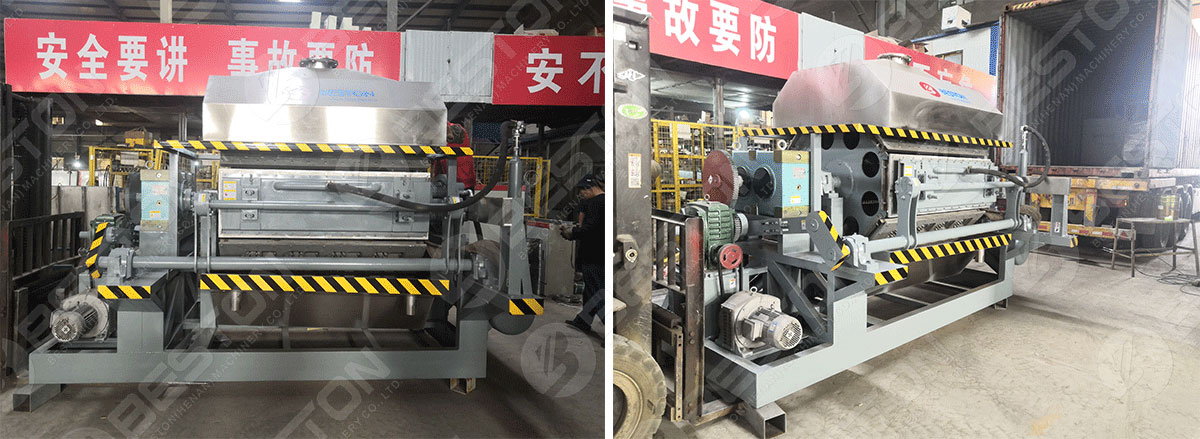 Egg Tray Making Machine Sold to Egg Tray Making Machine Shipped to Mozambique