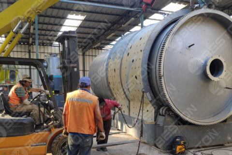 Tyre Pyrolysis Plant Installed in Chile