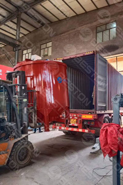 Delivery of BTF5-8 Pulp Egg Tray Manufacturing Machine to India