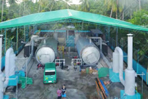BLJ-16 Beston Tyre Pyrolysis Machine in the Philippines
