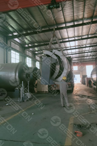 BST-J12 Charcoal Manufacturing Machine Delivered to Ghana