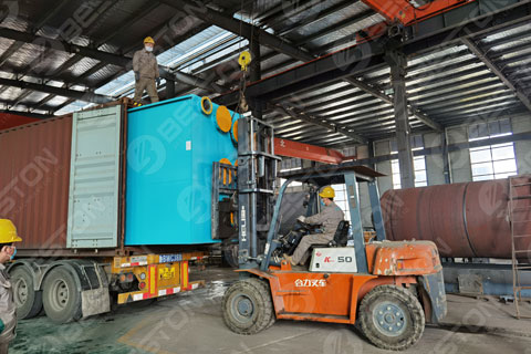 Waste Pyrolysis Machine Shipped to Saudi Arabia