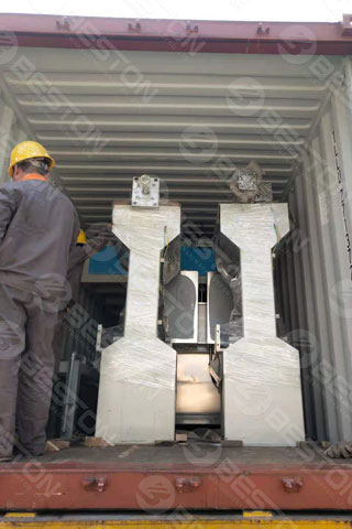 Delivery of Egg Tray Packing Machine to Indonesia